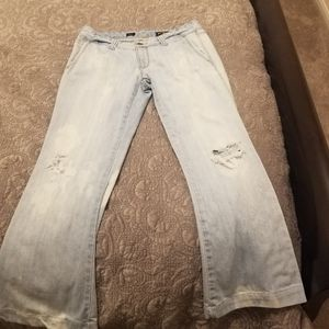 Express washed out light denium jeans size 10